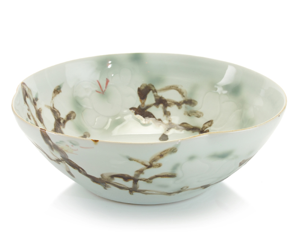JOHN RICHARD COLLECTION - Medium Curled Rim Porcelain Bowl