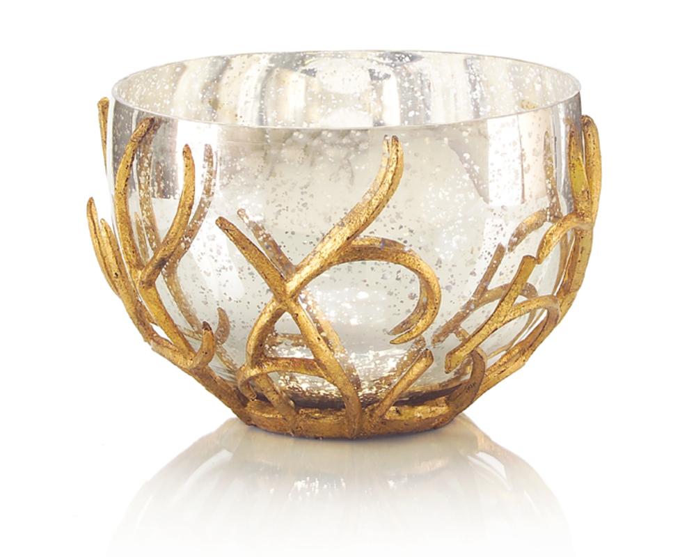 John Richard Collection - Gold Branch Encased Bowl
