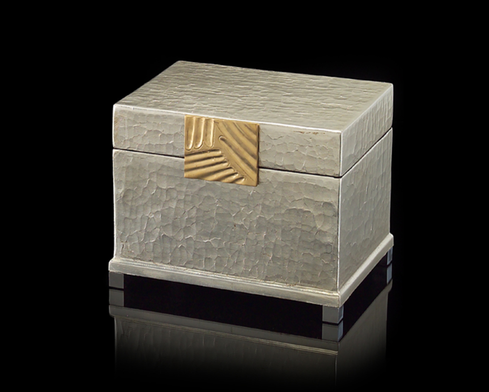 John Richard Collection - Silver Leaf and Brass Box