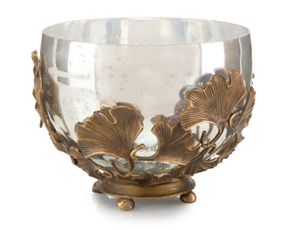 John Richard Collection - Brass and Mercury Glass Bowl
