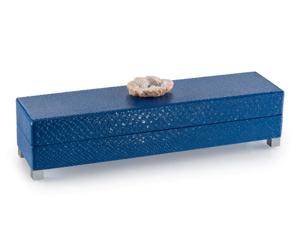 John Richard Collection - Indigo Blue Box with Stone Accent