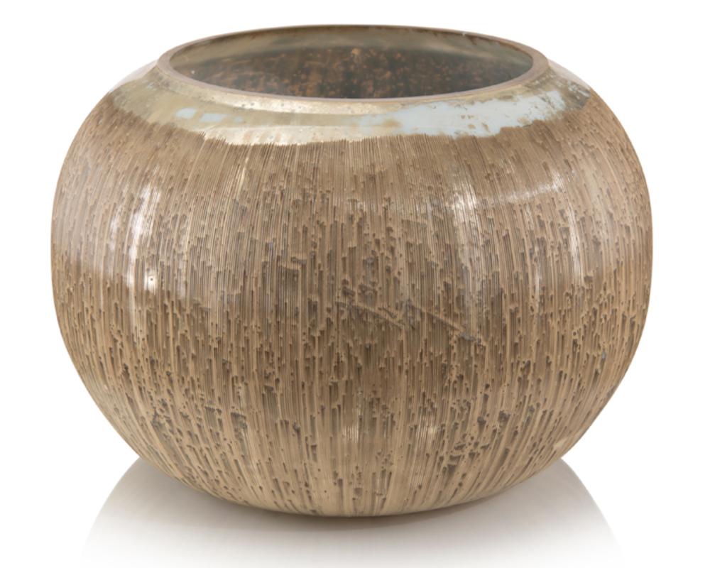 JOHN RICHARD COLLECTION - Carved Soft Silver Vase