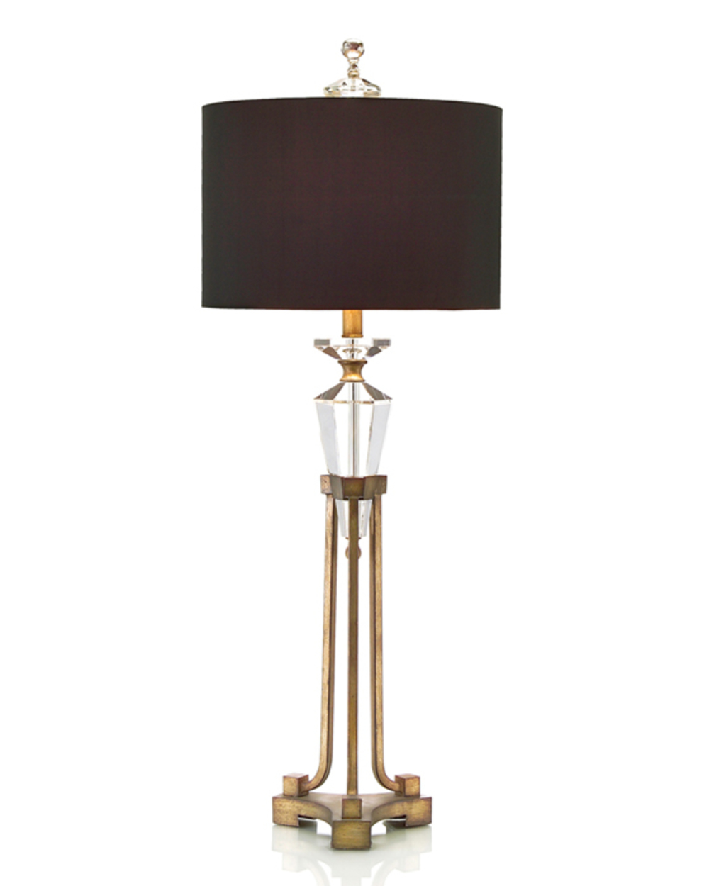 John Richard Collection - Faceted Crystal on Stand Buffet Lamp