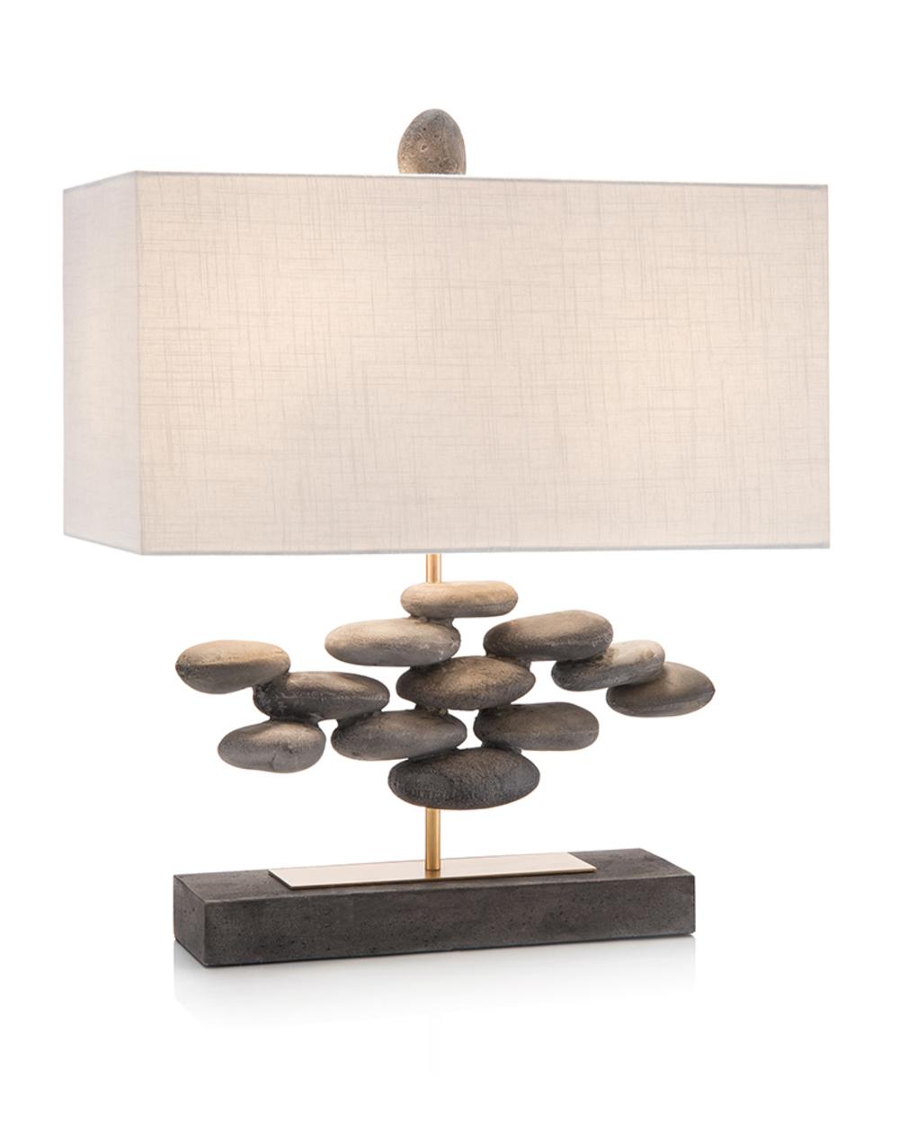 John Richard Collection - River Rock Accent Lamp