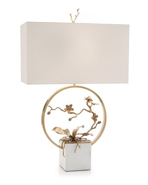 Thumbnail of John Richard Collection - Antique Brass Orchid Table Lamp