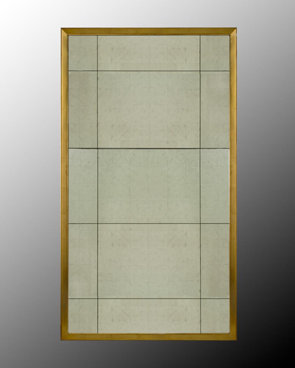John Richard Collection - Eglomise Mirror w/ Gold Frame