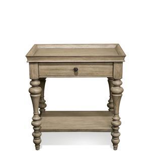 Thumbnail of Riverside Furniture - Corinne Wood Top Leg Nightstand