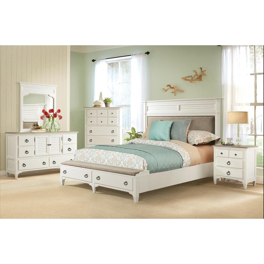 Riverside Furniture - Upholstered Storage Bed