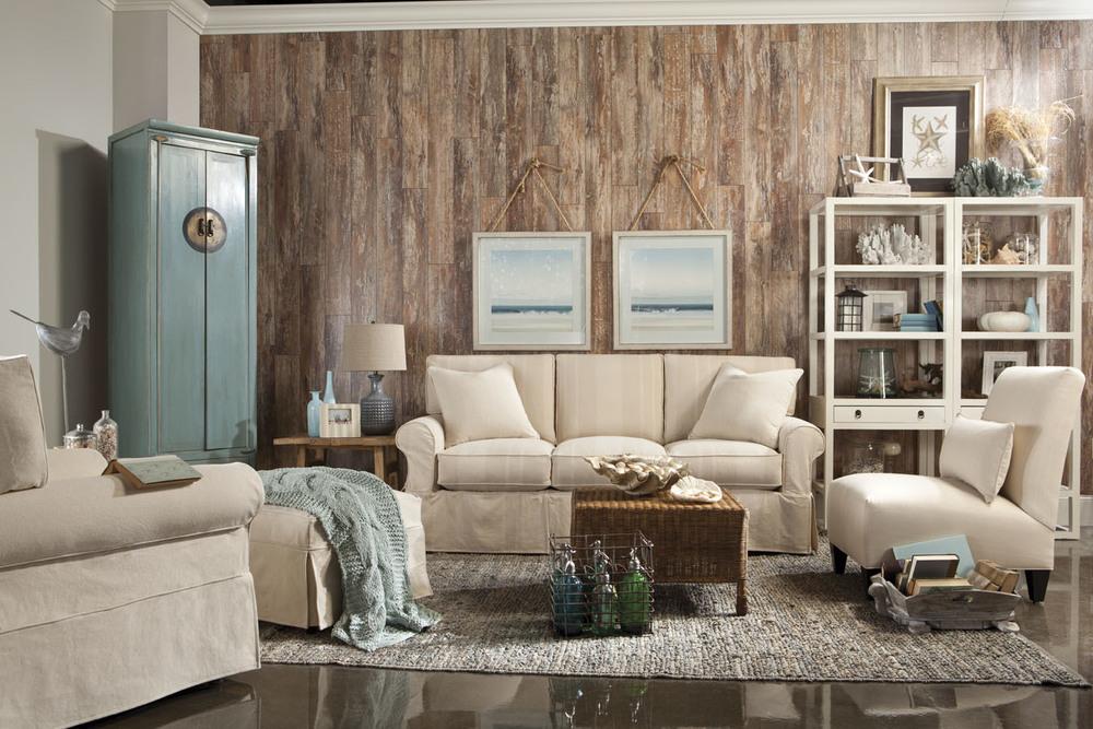 Rowe/Robin Bruce - 3 Seat Sofa w/ Slipcover