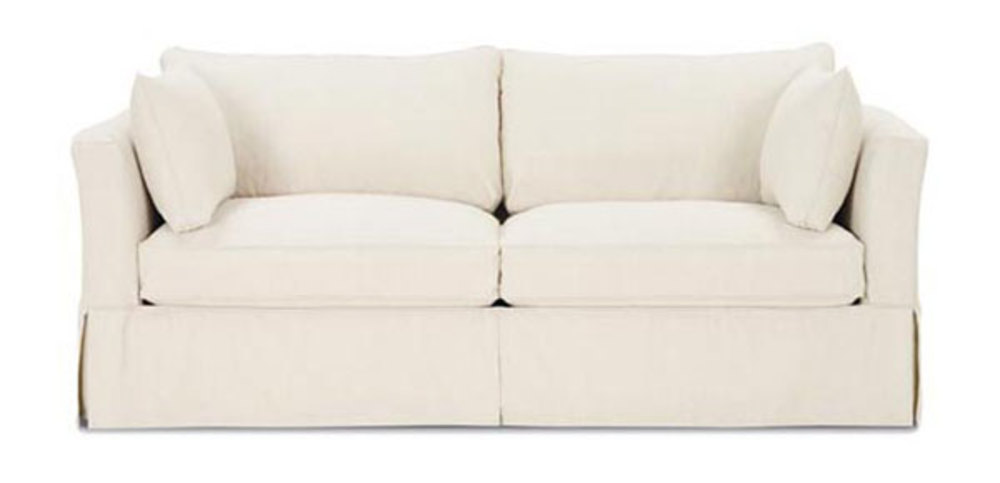 Rowe/Robin Bruce - Queen Bed w/ Slipcover