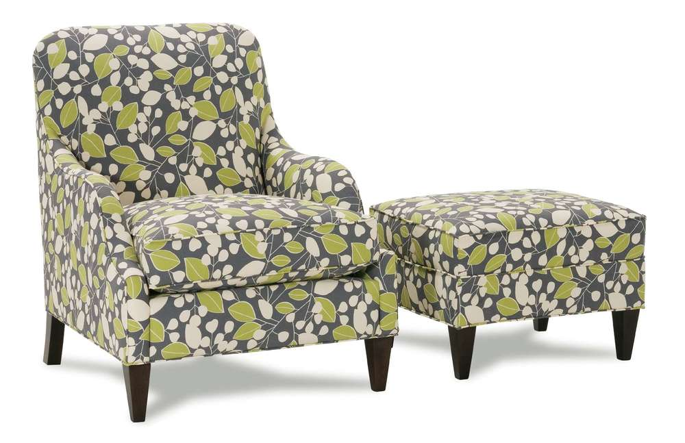 Rowe/Robin Bruce - Laine Chair and Ottoman