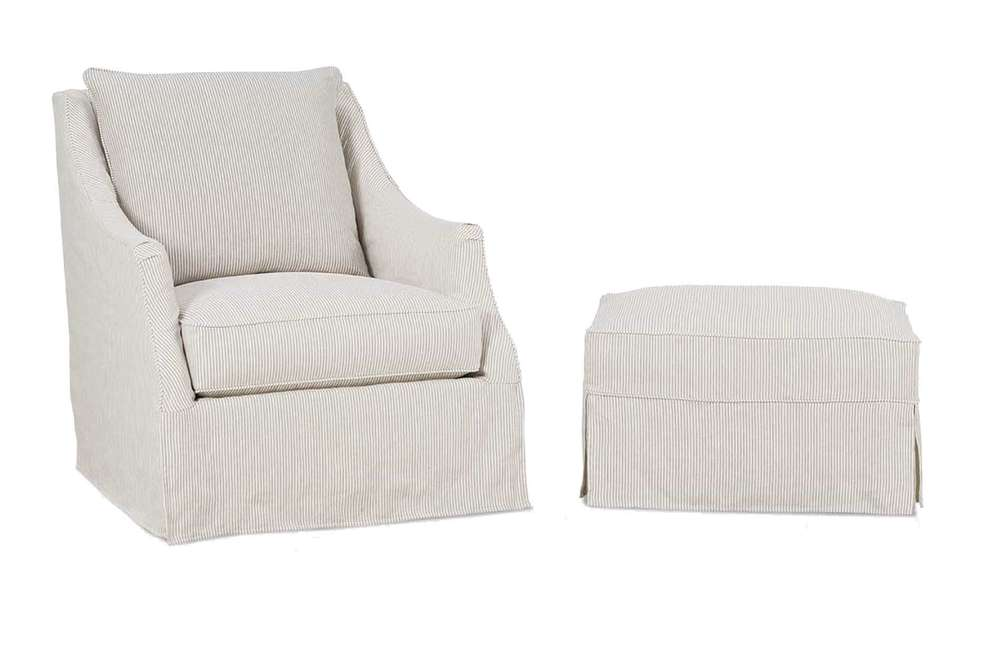 Rowe/Robin Bruce - Kate Swivel Chair and Ottoman
