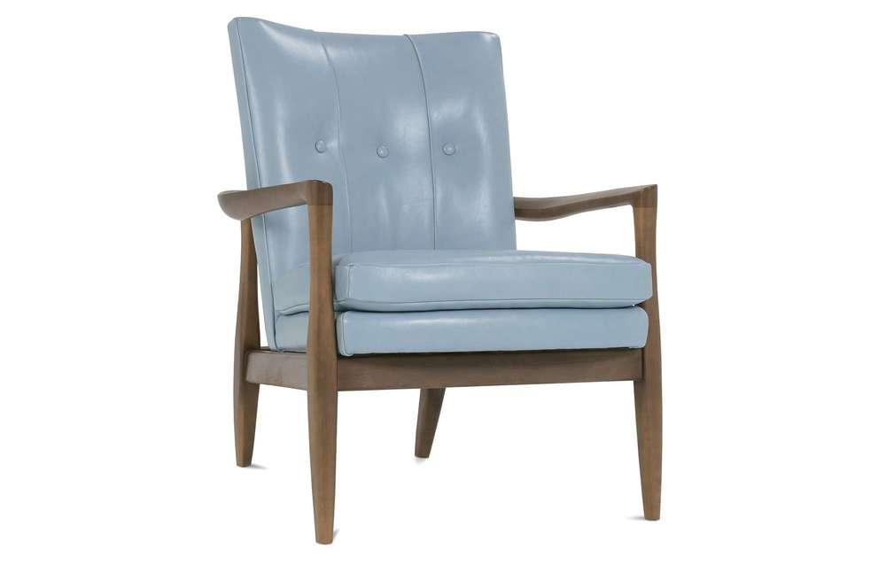 Rowe/Robin Bruce - Leather Wood Frame Chair