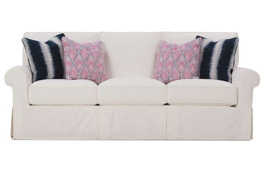 Rowe/Robin Bruce - Queen Bed with Slipcover