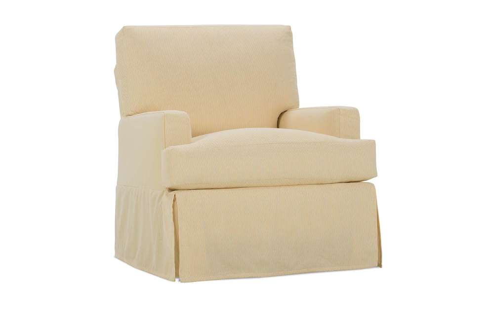 Rowe/Robin Bruce - Small Swivel Glider with Slipcover