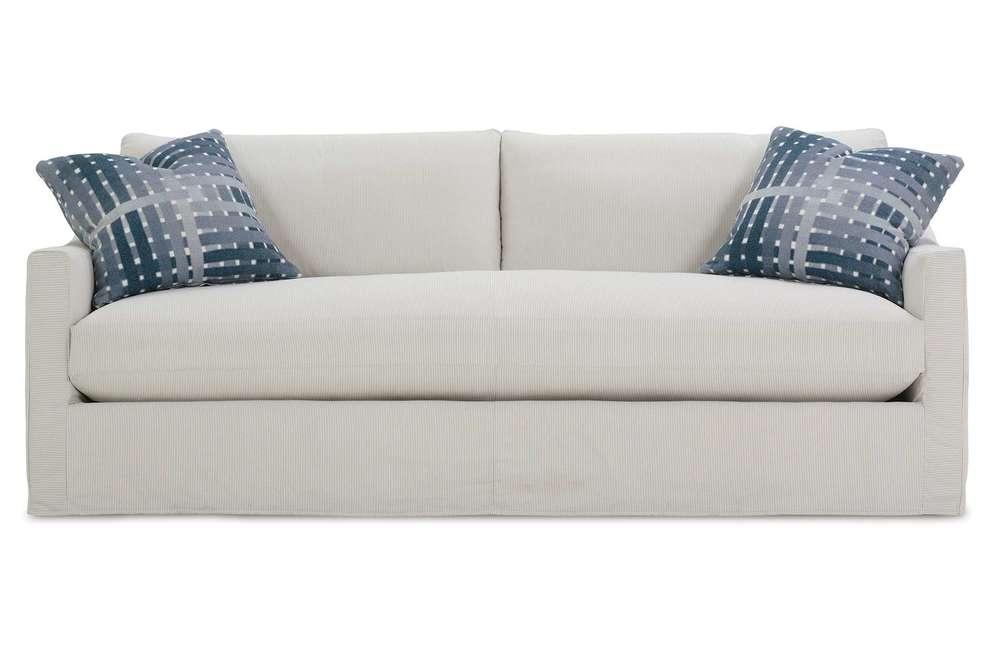 Rowe/Robin Bruce - Bench Cushion Sofa w/ Slipcover