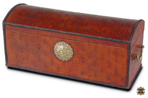 Thumbnail of Sarreid - Baron's Leather Box, Oxblood