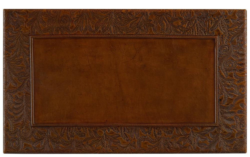 Sarreid - Kew Gardens Leather Nesting Tables