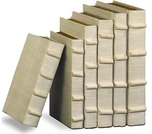 Thumbnail of Sarreid - Ecru Linen Books, Set/6