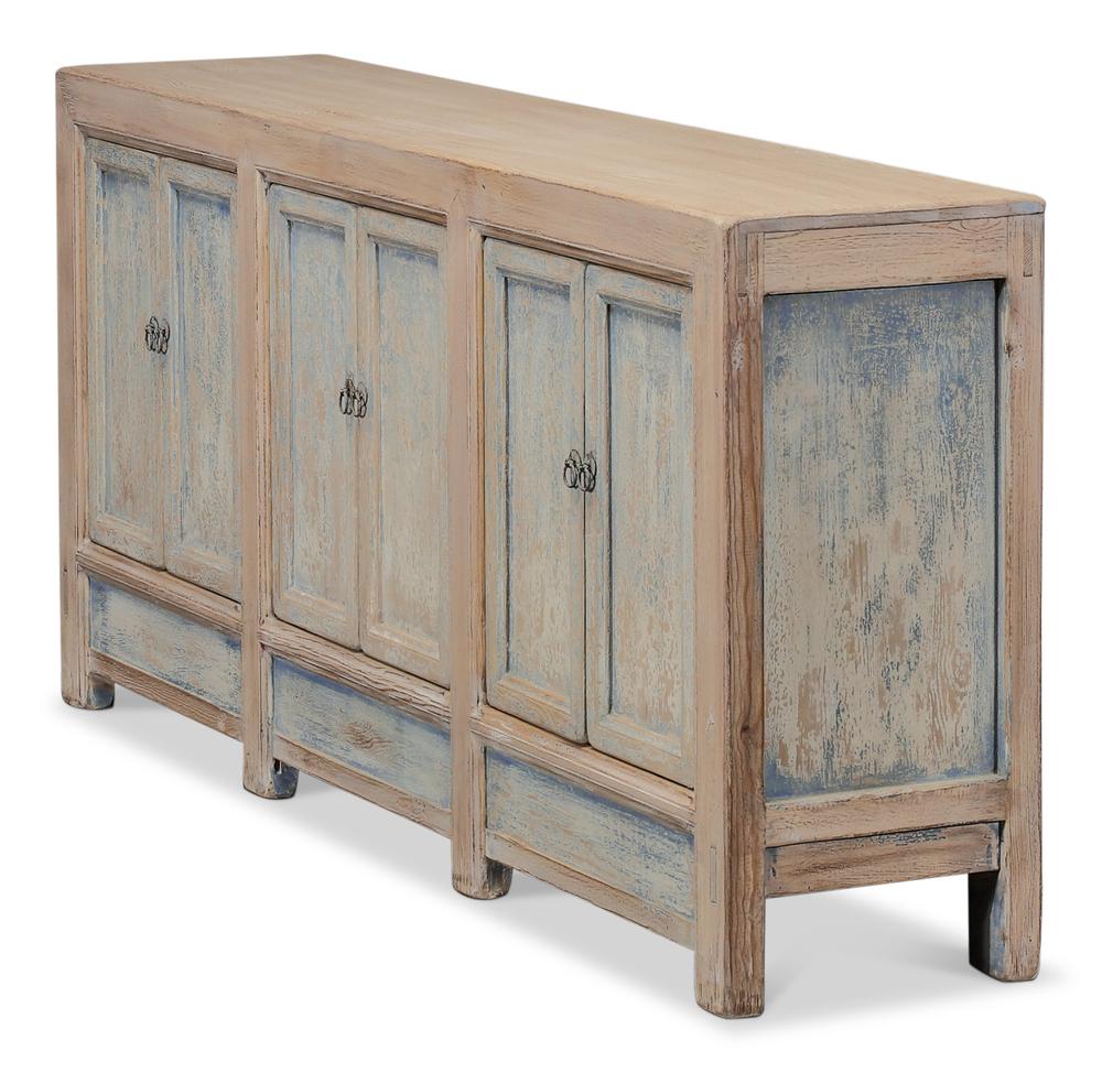 Sarreid - Gansu Six Door Cabinet, Pine