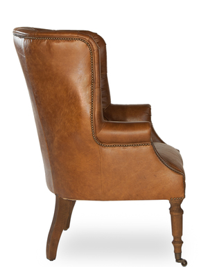 Thumbnail of Sarreid - Welsh Leather Chair