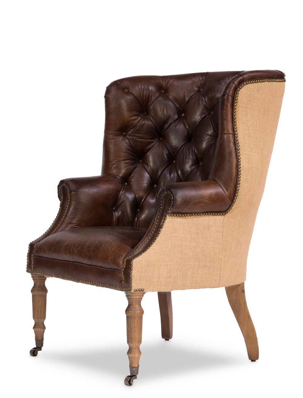 Sarreid - Welsh Leather & Jute Chair