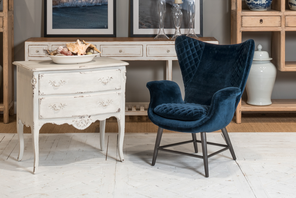 Sarreid - Wings Chair, Blue