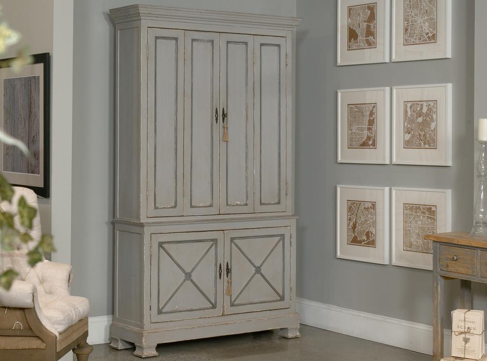 Sarreid - Painted Directoire Style Cabinet