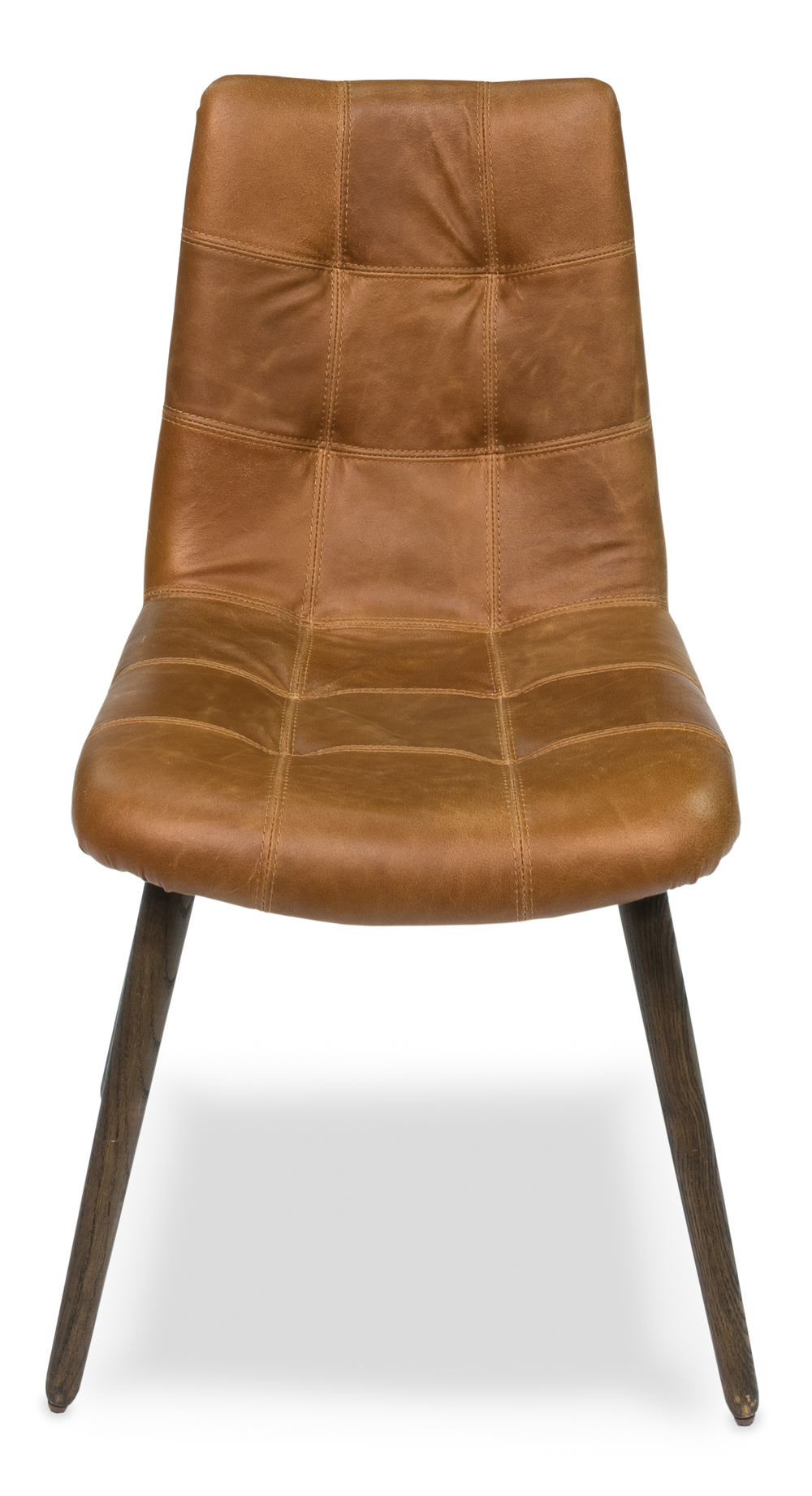 Sarreid - Harned Leather Side Chair, Dark