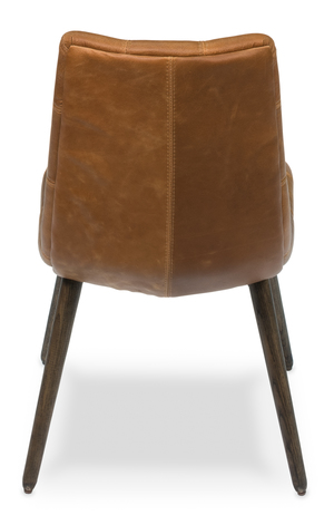 Thumbnail of Sarreid - Harned Leather Side Chair, Dark