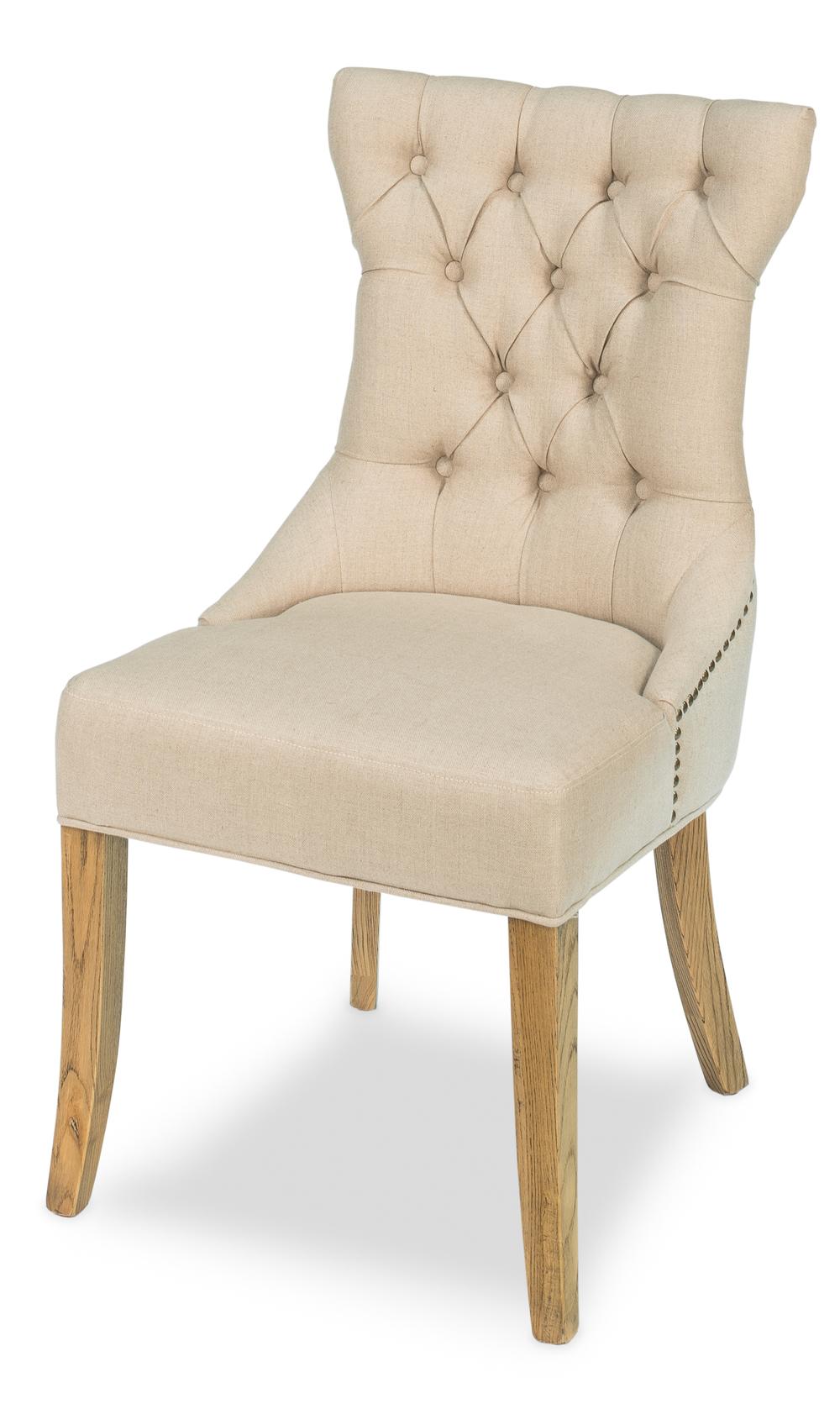Sarreid - Sophie Side Chair, White Linen