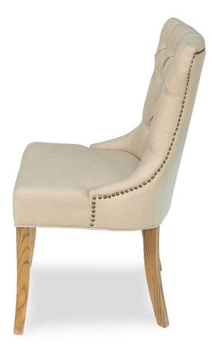 Thumbnail of Sarreid - Sophie Side Chair, White Linen