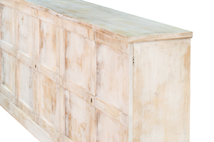 Thumbnail of Sarreid - Luciana Six Wood Door Buffet, Distressed White