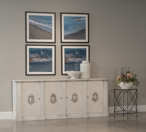 Thumbnail of Sarreid - Crested Wall Cabinet, White/White