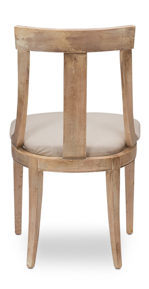 Thumbnail of Sarreid - Deco Side Chair, Antique Oak, Linen Flax