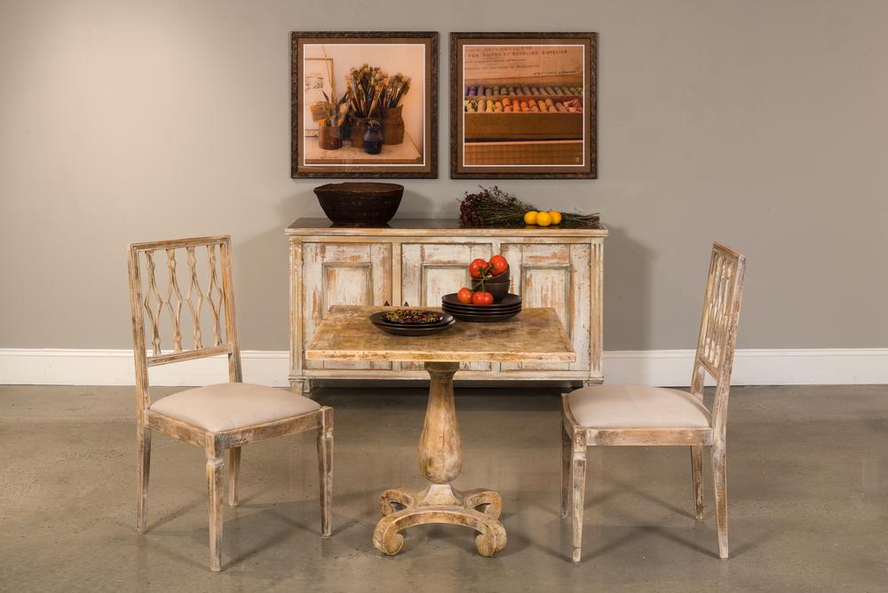 Sarreid - Bistro Table, Antique Oak