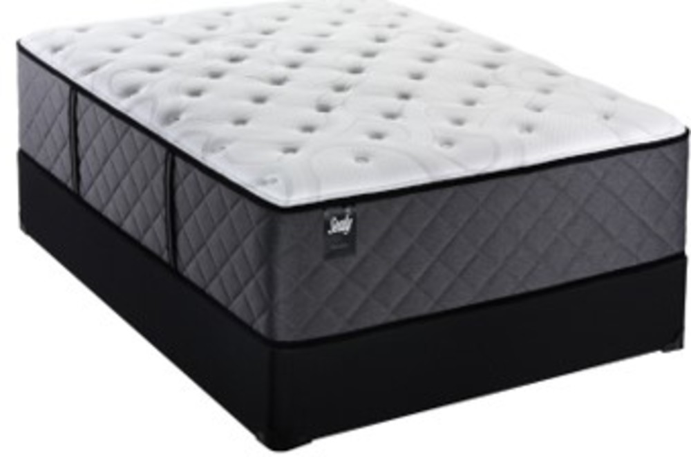 Sealy Mattress - Overlook Circle Plush Mattress with Standard Box Spring