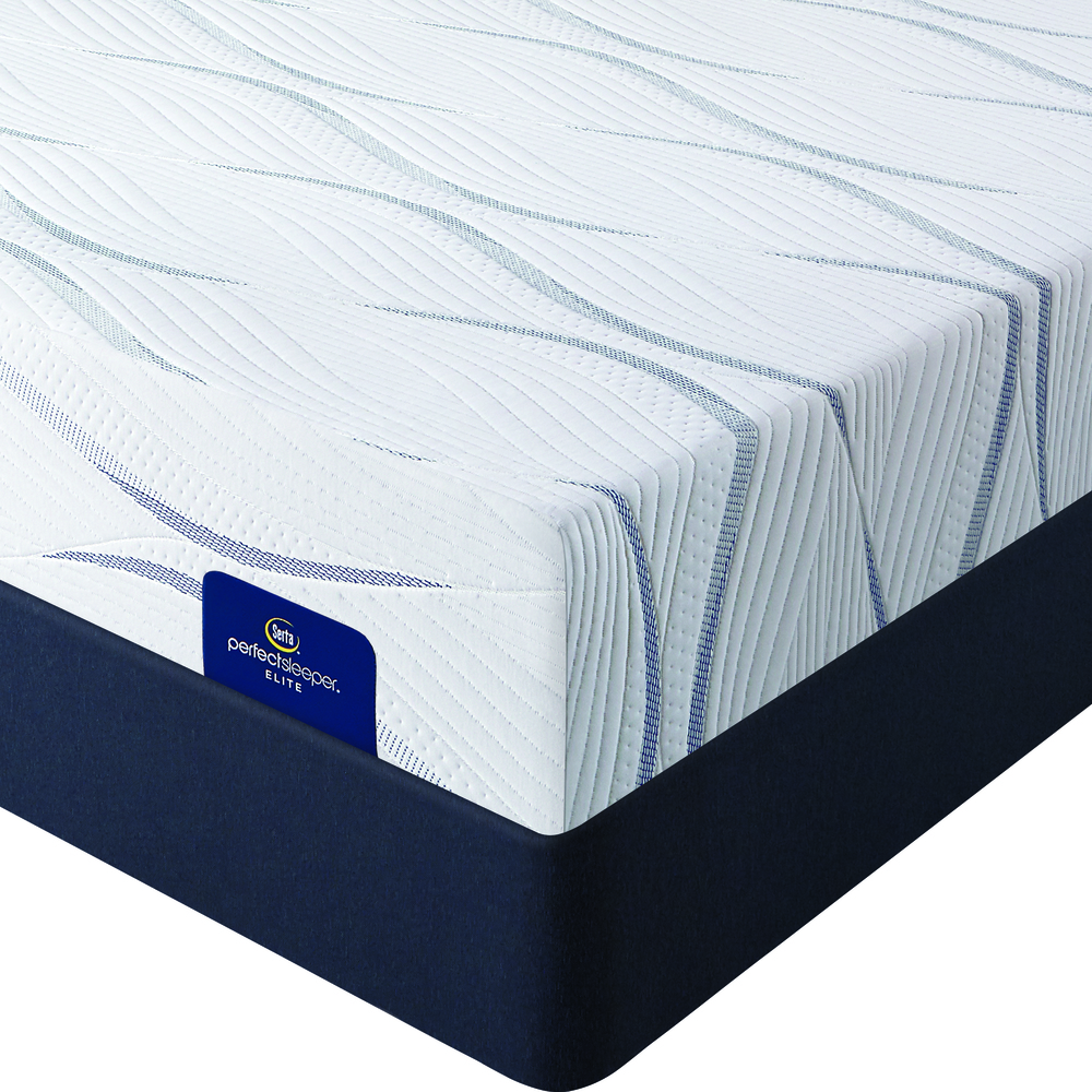 Serta Mattress - Merriam Luxe II Firm Mattress with Low Profile Box Springs