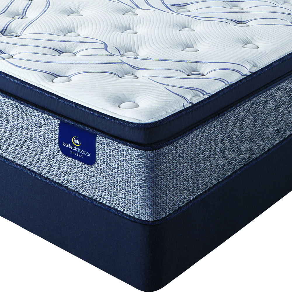 Serta Mattress - Kleinmon II Plush PT Mattress with Low Profile Box Springs