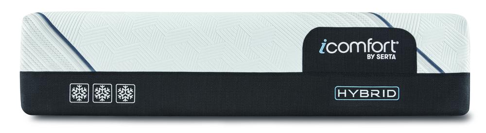 Serta Mattress - iComfort CF3000 Non-Quilted Hybrid Medium Mattress with Motion Perfect IV Adjustable Base