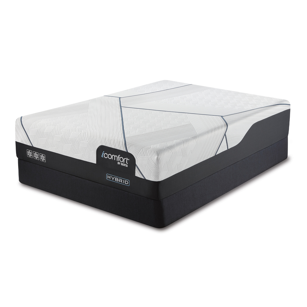 Serta Mattress - iComfort CF3000 Non-Quilted Hybrid Medium Mattress with Standard Box Spring