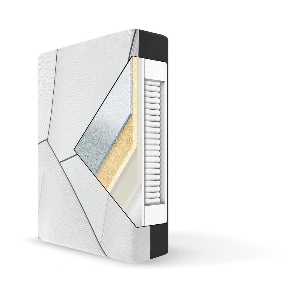 Serta Mattress - iComfort CF3000 Non-Quilted Hybrid Medium Mattress with Low Profile Box Spring