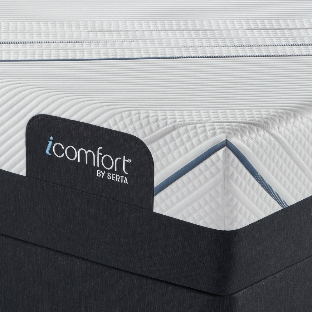 Serta Mattress - iComfort Foam CF4000 Plush Mattress with Low Profile Box Spring