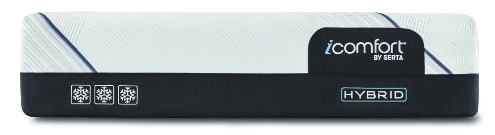 Serta Mattress - iComfort CF3000 Non-Quilted Hybrid Plush Mattress with Low Profile Box Spring