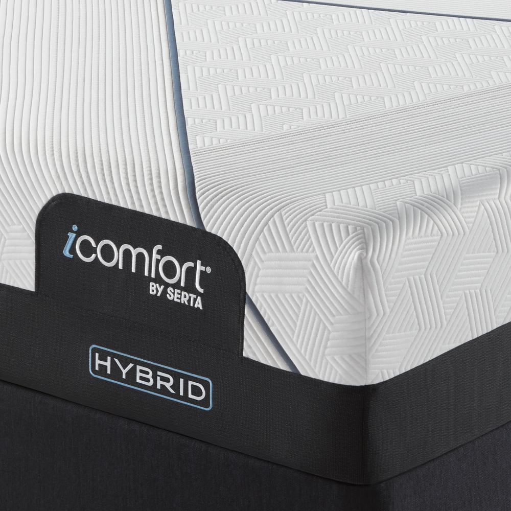 Serta Mattress - iComfort CF3000 Non-Quilted Hybrid Plush Mattress with Standard Box Spring