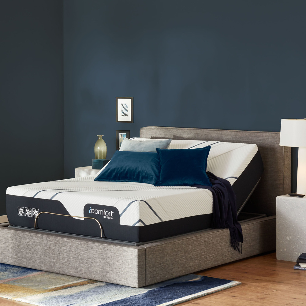 Serta Mattress - iComfort Foam CF4000 Firm Mattress with Motion Perfect IV Adjustable Base