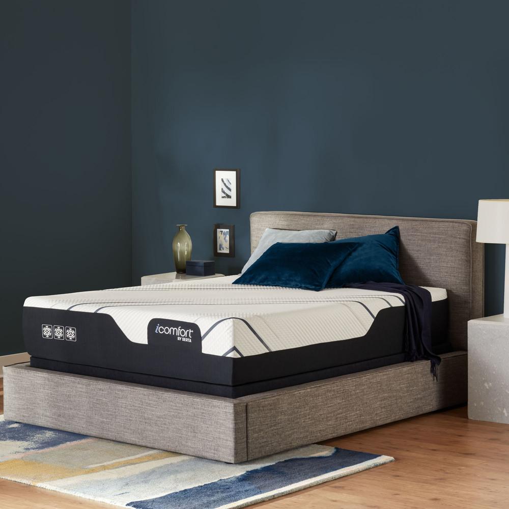Serta Mattress - iComfort Foam CF4000 Firm Mattress with Low Profile Box Spring