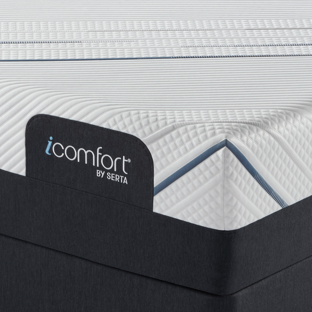 Serta Mattress - iComfort Foam CF4000 Firm Mattress with Low Profile Box Spring