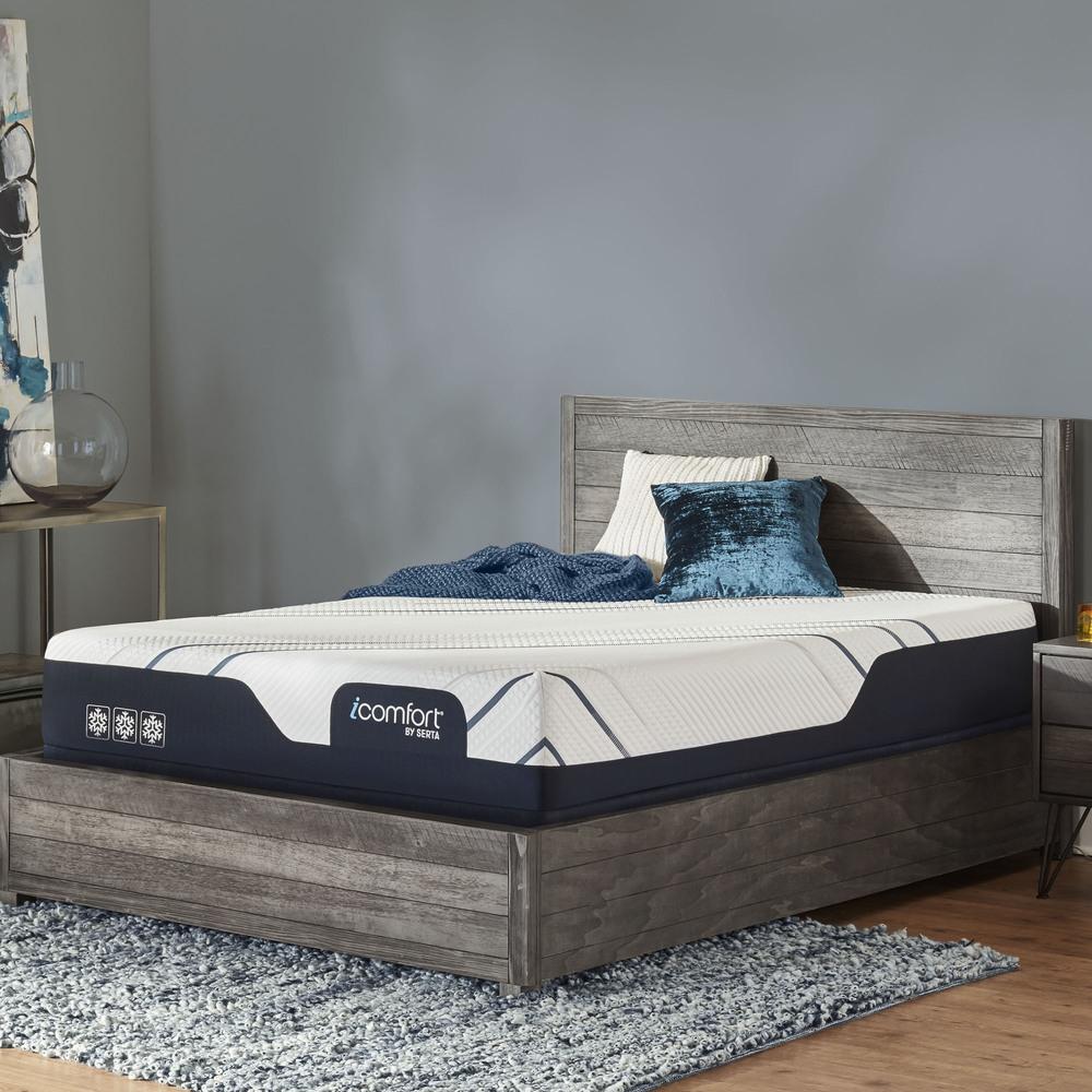 SERTA MATTRESS COMPANY - iComfort Foam CF3000 Medium Mattress with Low Profile Box Spring