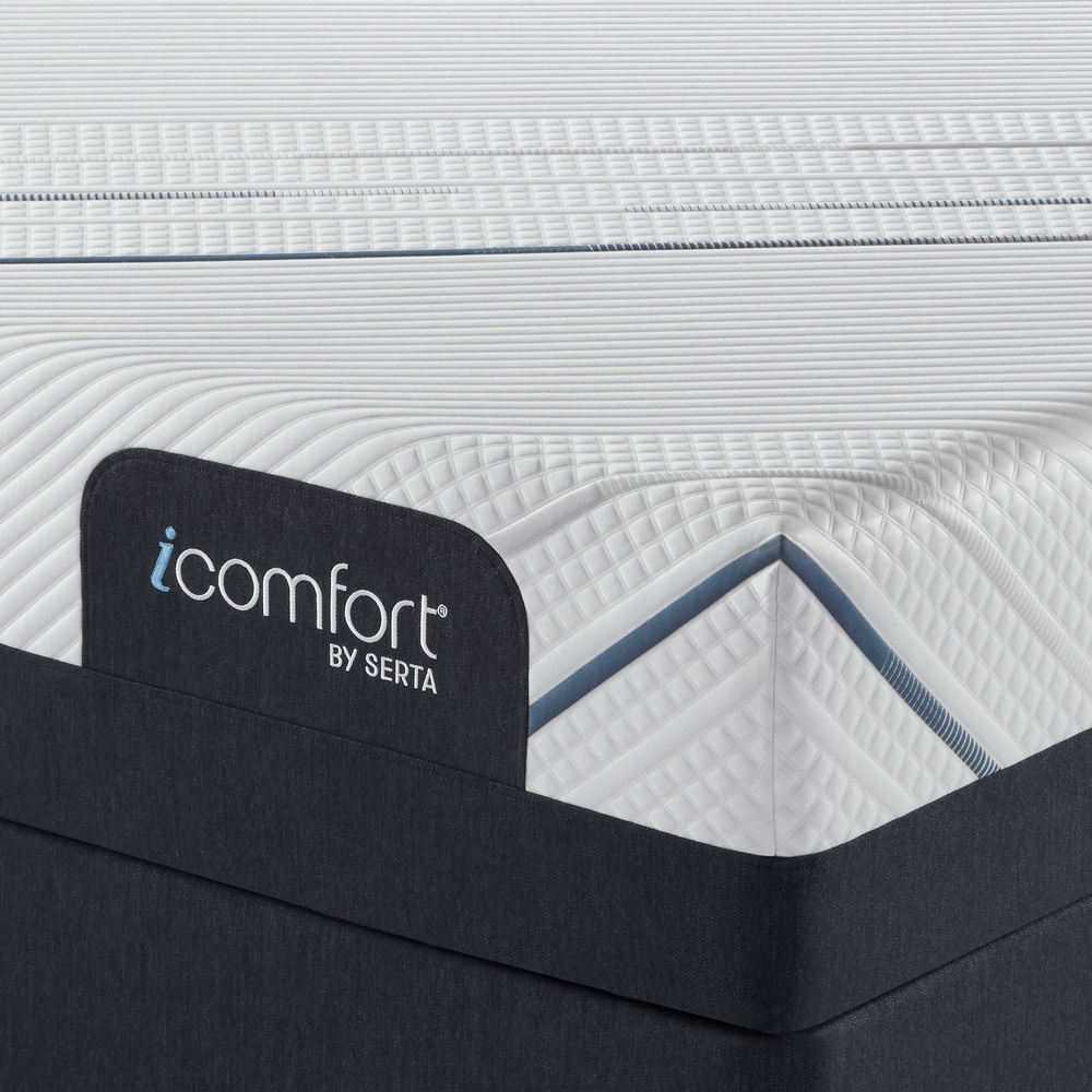 Serta Mattress - iComfort Foam CF3000 Plush Mattress with Motion Perfect IV Adjustable Base